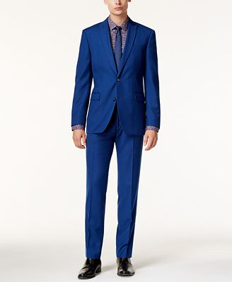 Bar III Men's Slim-Fit Cobalt Blue Suit Separates, Created for ...