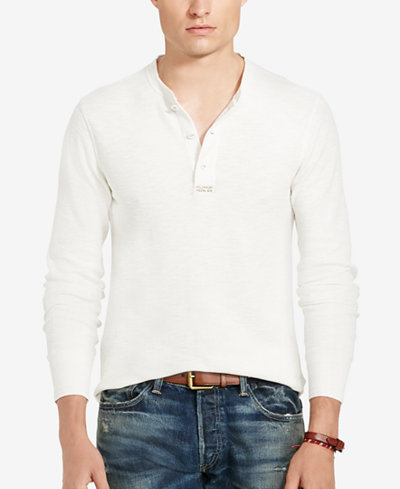 Polo ralph lauren men 39 s jacquard henley shirt t shirts for Mens collared henley shirt
