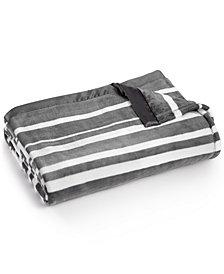 LAST ACT! Berkshire Classic Velvety Stripe Plush Blankets