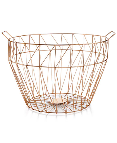 Home Design Studio Large Geo Wire Basket, Only at
