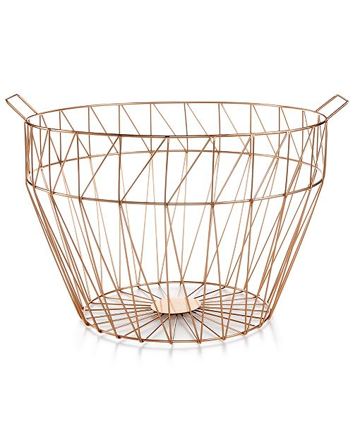 Large Geo Wire Basket, Created for Macy's