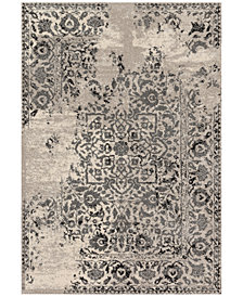 "Loloi Emory EB-01 Ivory/Charcoal 2'5""x7'7"" Runner Area Rug"