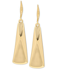 Robert Lee Morris Soho Gold-Tone Sculptural Rectangle Drop Earrings