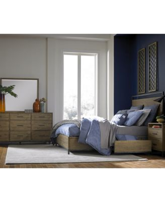 gatlin storage queen platform bed, created for macy's - furniture