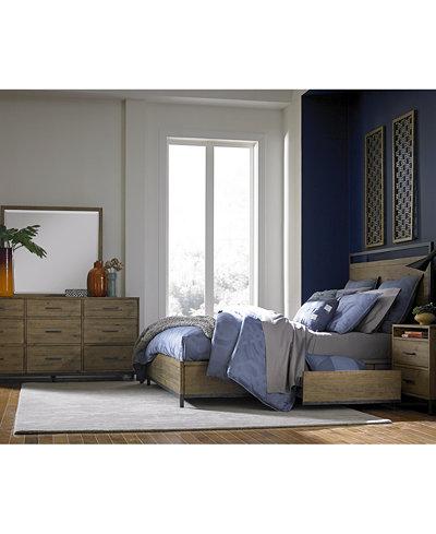 Gatlin Storage Platform Bedroom Furniture Collection, Created for ...