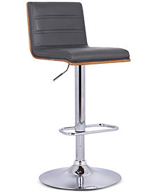 Aubrey Bar Stool Brushed Stainless Steel, Quick Ship