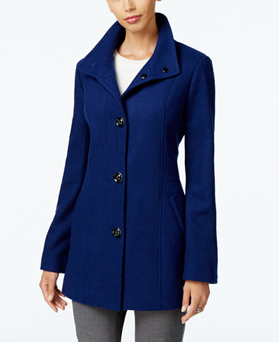 INC International Concepts Stand-Collar Peacoat, Created for ...