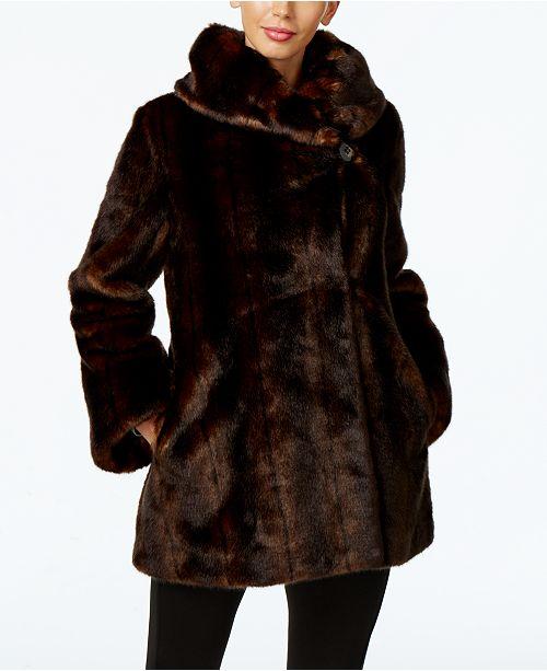 Faux-Fur Asymmetrical Coat