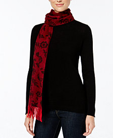 Charter Club Floral Cashmere Scarf, Created for Macy's