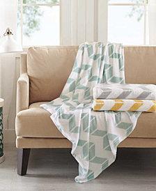 Intelligent Design Chevron Plush Blankets