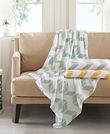 Intelligent Design Chevron Plush Blankets