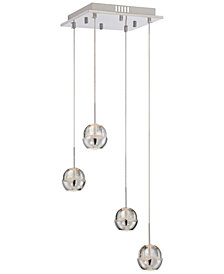 Lite Source Chrome LED Pendant Light
