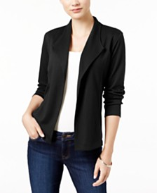 Style & Co Petite Draped Blazer, Created for Macy's
