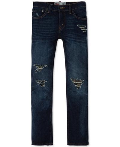 Levi's® Boys' 511 Slim-Fit Frayed Ripped Jeans - Levi's® Boys' 511 Slim-Fit Frayed Ripped Jeans - Jeans - Kids