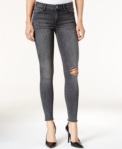 DL 1961 Jessica Alba No. 3 Instasculpt Weathered Wash Ripped Skinny Jeans