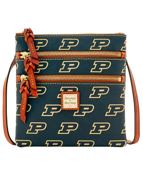 Dooney & Bourke Purdue Boilermakers Triple Zip Crossbody Bag