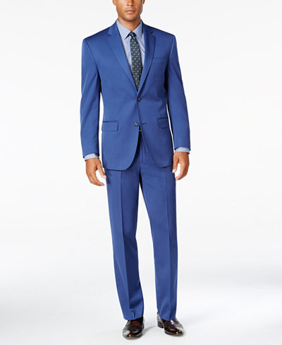 Sean John Men's Classic-Fit New Blue Suit Separates - Suits & Suit ...