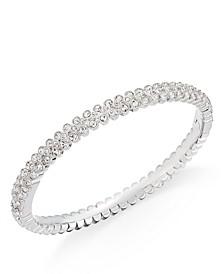 Silver-Tone Crystal Pavé Bangle Bracelet, Created for Macy's