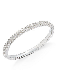 Danori Silver-Tone Crystal Pavé Bangle Bracelet, Created for Macy's