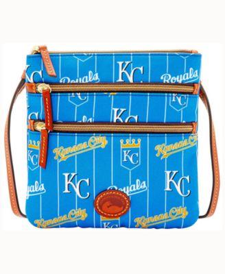Kansas City Royals Nylon Triple Zip Crossbody Bag