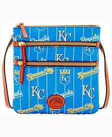 Dooney & Bourke Kansas City Royals Nylon Triple Zip Crossbody Bag