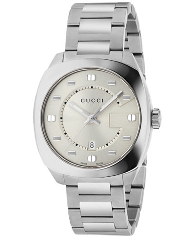Gucci Men's GG2570 Swiss Stainless Steel Bracelet Watch 41mm YA142308