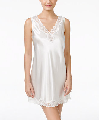 Lace Trimmed V Back Chemise, Created For Macy's by Thalia Sodi
