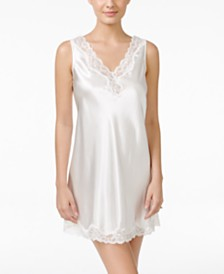 Thalia Sodi Lace-Trimmed V-Back Chemise, Created for Macy's