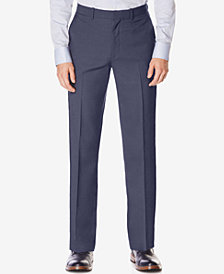 Perry Ellis Portfolio Men's Classic-Fit No Iron Performance Nailhead Dress Pants