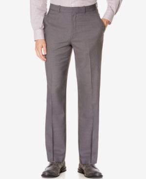 Perry Ellis Portfolio Classic-Fit No Iron Nailhead Men's Dress Pants