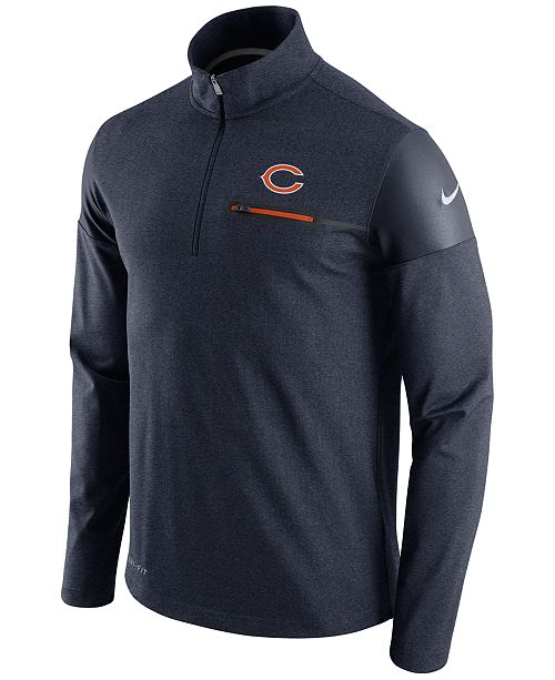 Nike Men s Chicago Bears Elite Coaches Quarter-Zip Pullover - Sports ... baa88a943