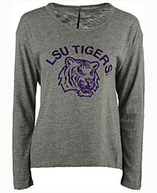 Retro Brand Women's LSU Tigers Glitter Arch Long Sleeve T-Shirt