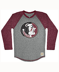 Retro Brand Men's Florida State Seminoles Color Block Long Sleeve T-Shirt