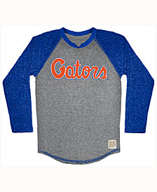 Retro Brand Men's Florida Gators Color Block Long Sleeve T-Shirt