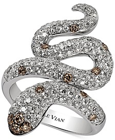 Red Carpet®  Chocolatier Diamond Snake Ring (1-7/8 ct. t.w.) in 14k White Gold