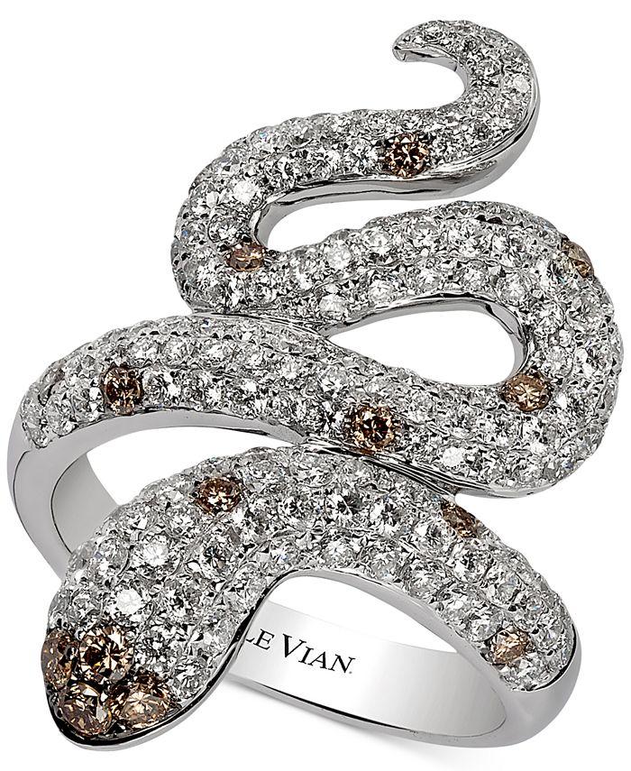Le Vian - Chocolatier Diamond Snake Ring (1-7/8 ct. t.w.) in 14k White Gold