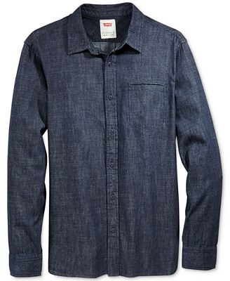 Levi's® Men's Greg Denim Long-Sleeve Shirt - Casual Button-Down ...