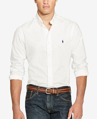 Polo Ralph Lauren Slim-Fit Men's Long Sleeve Stretch Poplin Shirt ...