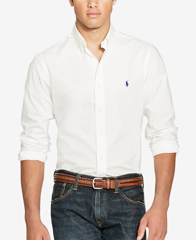 Polo Ralph Lauren Slim-Fit Men's Long Sleeve Stretch Poplin Shirt ...