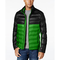 Michael Kors Quilted Colorblocked Down Jacket (Black)