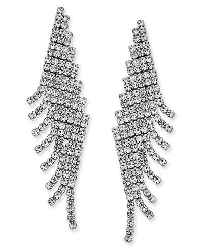 Charter Club Angled Pavé Fringe Drop Earrings, Created for Macy's