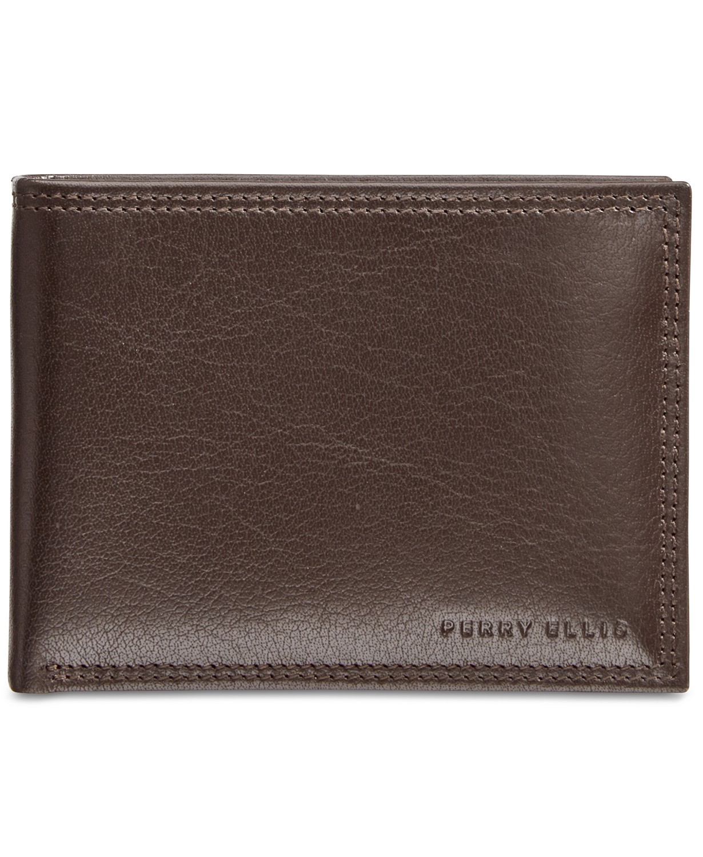Perry Ellis Portfolio Leather RFID Men's Wallet