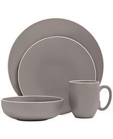Vera Wang Wedgwood Vera Color Gray 16-Piece Dinnerware Set, Service for 4