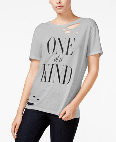 RACHEL Rachel Roy Ripped Graphic T-Shirt, Only at