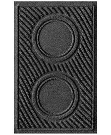 """Bungalow Flooring Water Guard Dog Bowl Wave Charcoal 18""""x28"""" Pet Mat"""