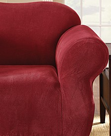 Stretch Pique 1-Piece Chair Slipcover