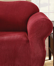 Sure Fit Stretch Pique 1-Piece Chair Slipcover