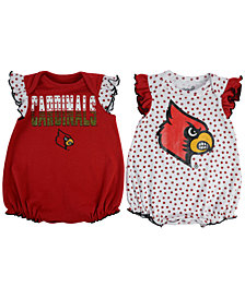 Outerstuff Baby Girls' Louisville Cardinals Polka Fan Set