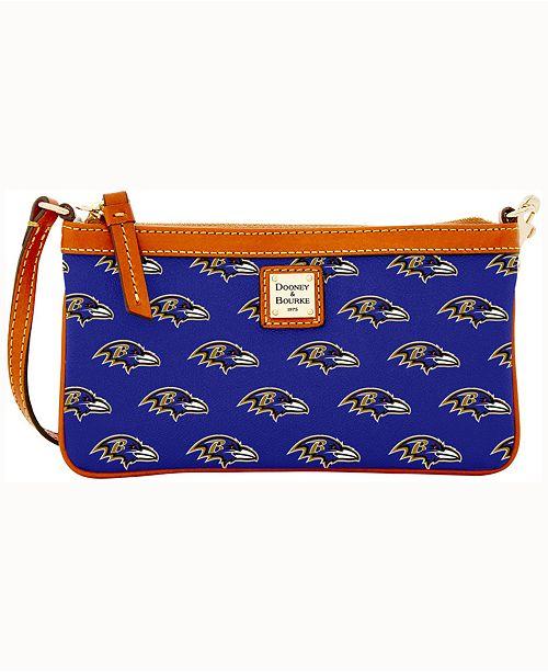 Dooney & Bourke Baltimore Ravens Large Slim Wristlet