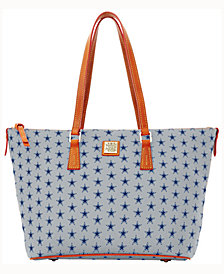 Dooney & Bourke Dallas Cowboys Zip Top Shopper